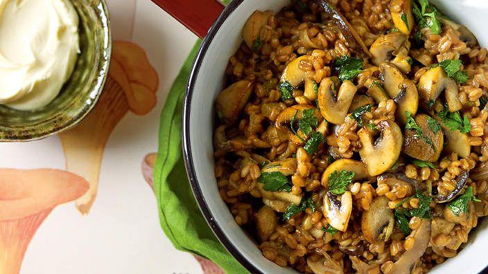 Farro and three mushroom ragout   Food & Drink   Pinterest