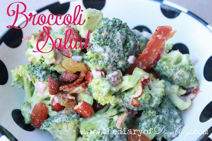 The BEST Broccoli Salad #salad #recipe   Interesting Food   Pinterest