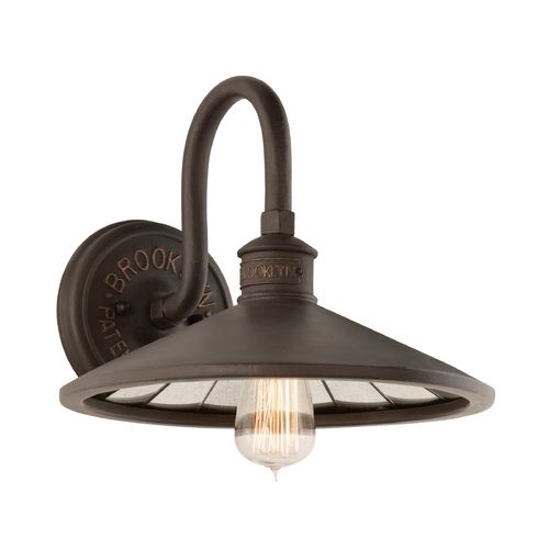 Wall Lights With Edison Bulbs : Vintage inspired wall light with Edison bulb by Troy Lighting. Hot Trends Pinterest