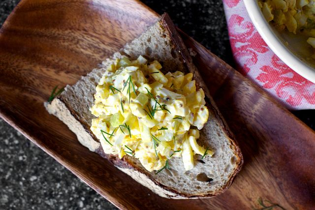 egg salad with pickled celery and coarse dijon by smitten kitchen http ...