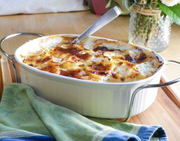 Leek Gratin. Thinly sliced potatoes and leeks, layered with Gruyere ...