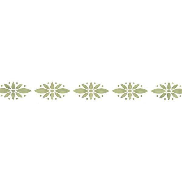 Simple Floral Wall Stencil Border