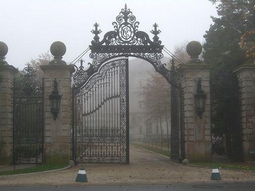 Gothic Victorian Black Iron Gate Fence H O M E L I K E A B L E