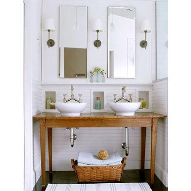Farmhouse Vessel Sink : Bathroom Farm Table with vessel sinks House Dressings Pinterest