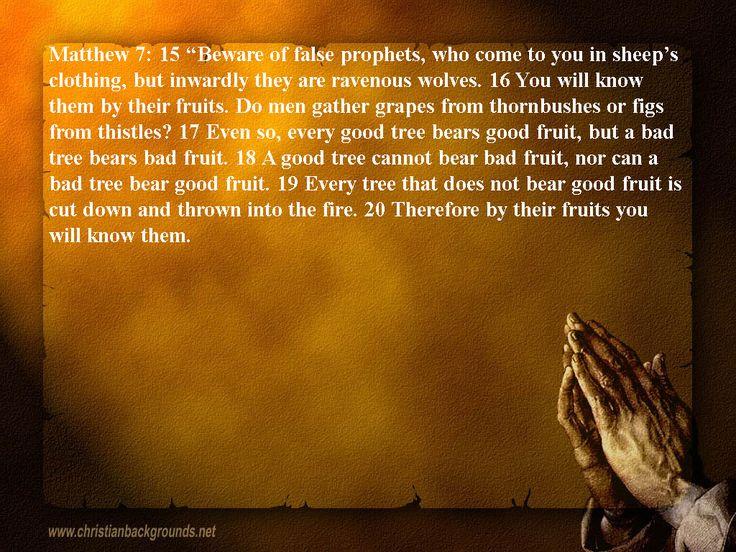 False prophets seldom heard bible scriptures pinterest