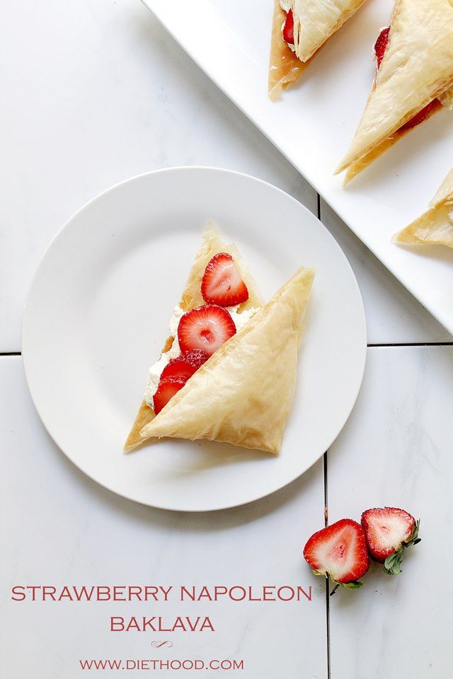 ... Napoleon Baklava   www.diethood.com   #baklava #recipe #thechew