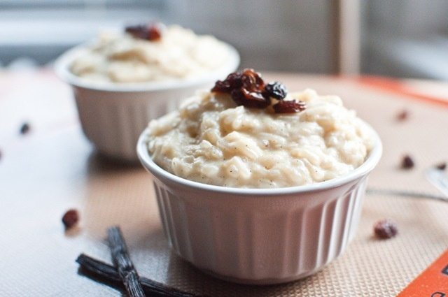 Brown sugar and vanilla rice pudding- very easy and delicious! Just ...