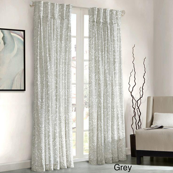 Curtains Ideas damask curtain : Madison Park Amari Damask Pattern Window Panel Curtain | Overstock.com ...