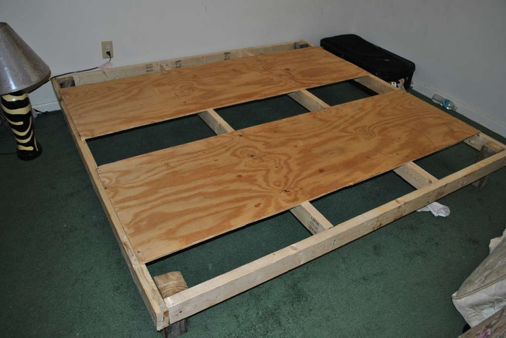 build a platform bed.....looks easy | Kids rooms | Pinterest