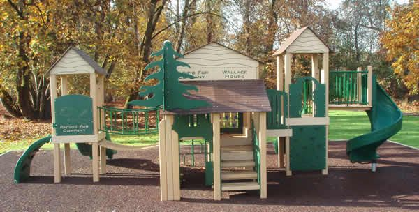 PDPlay recycled plastic playgrounds