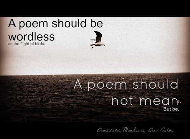 ars poetica archibald macleish essay