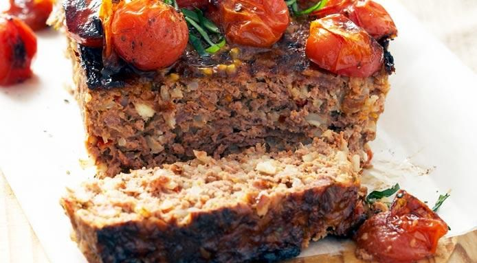 Meatloaf With Cherry Tomatoes   My fall harvest   Pinterest