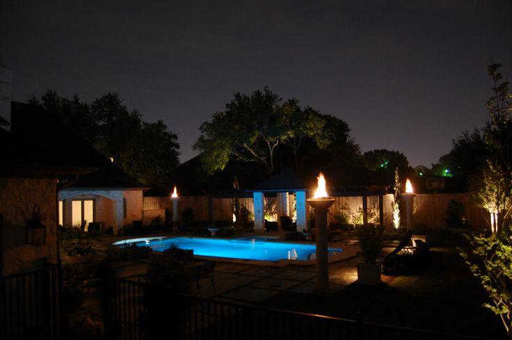 Backyard Pool At Night : swimmimg pool at night  Back Yard  Pinterest