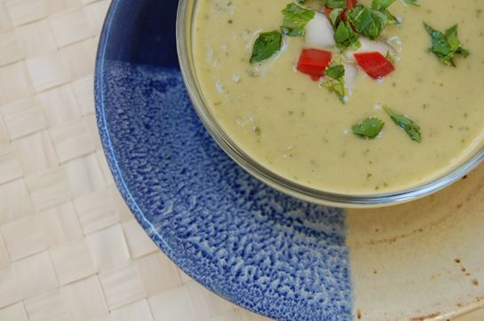 Chilled Avocado and Cucumber Soup | Recipes | Pinterest