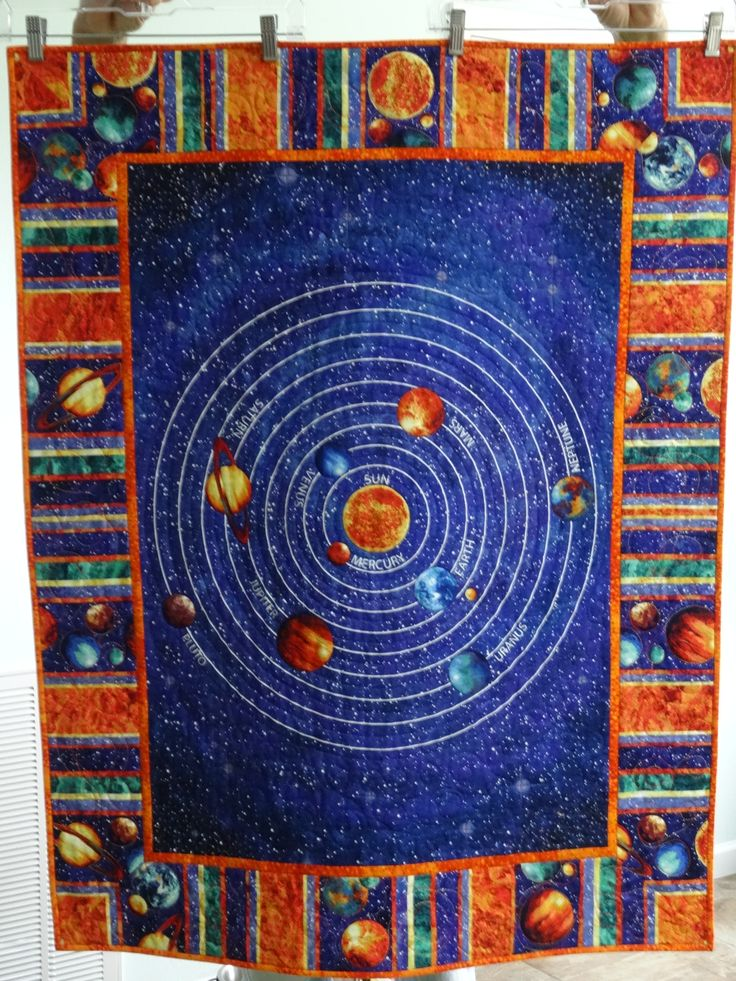 Solar system quilt pics about space for Solar system fabric panel