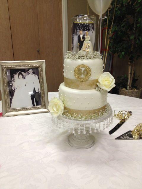Cake table th wedding anniversary pinterest
