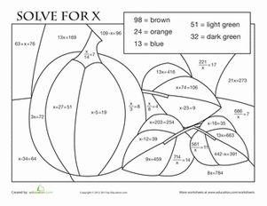 ... worksheets fall math coloring worksheets 5th grade fraction bars