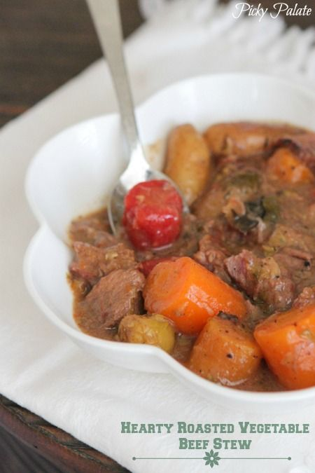 Hearty Roasted Vegetable Beef Stew | Slow Cooker Recipes | Recipe