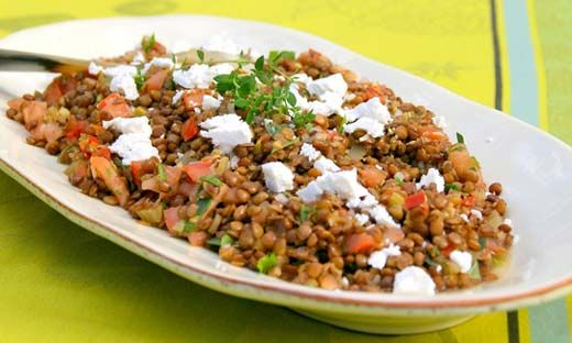 Warm Lentil Salad for a New Year