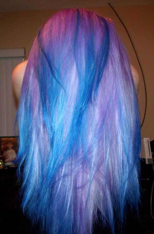 Amazing lavender and blue hair | Love your locks | Pinterest