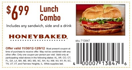 Honeybaked coupons 2018