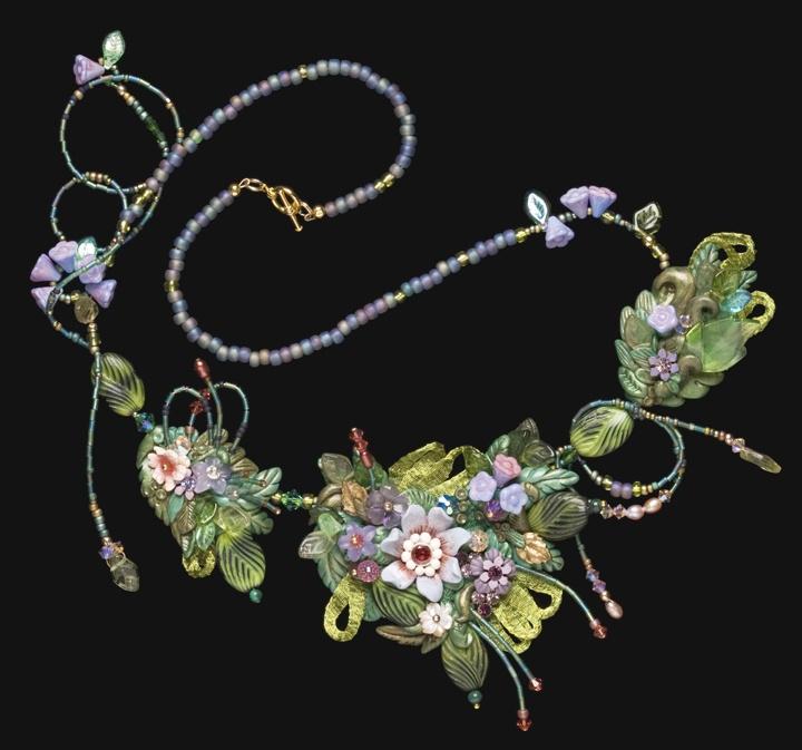 Christie Friesen - polymer vintage necklace