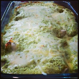 Healthy and Yummy Meals: Chicken Enchiladas with Creamy Avocado Sauce