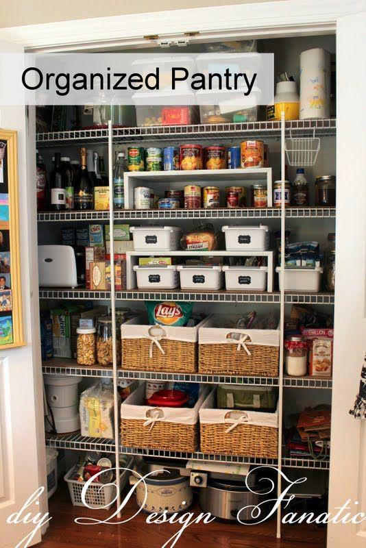 Keep Your Pantry Organized Organization Pinterest