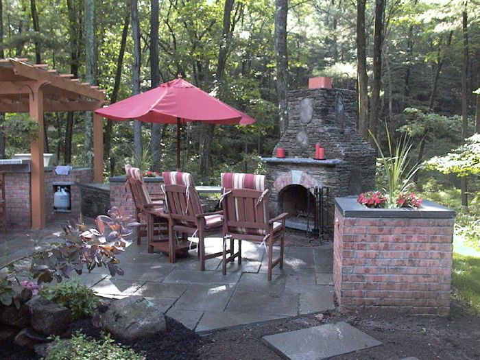 fireplace backyard landscape ideas pinterest