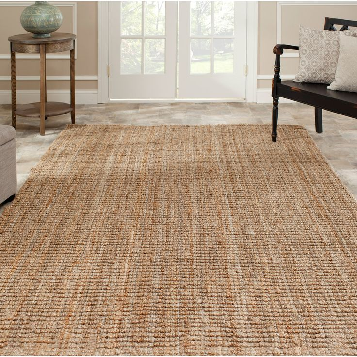 Hand woven Weaves Natural colored Fine Sisal Rug 8 x 10