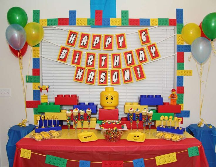 "Legos / Birthday ""Lego 6th Birthday"" 