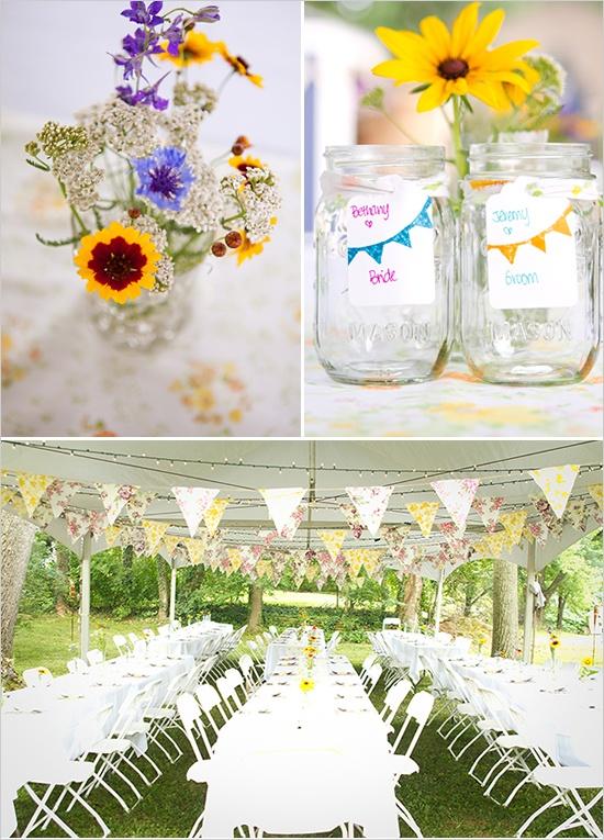 Diy backyard wedding decoration ideas