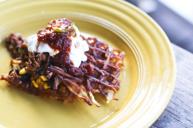Waffle Iron Hash Browns and Chorizo Hash ---- if your mouth isn't ...