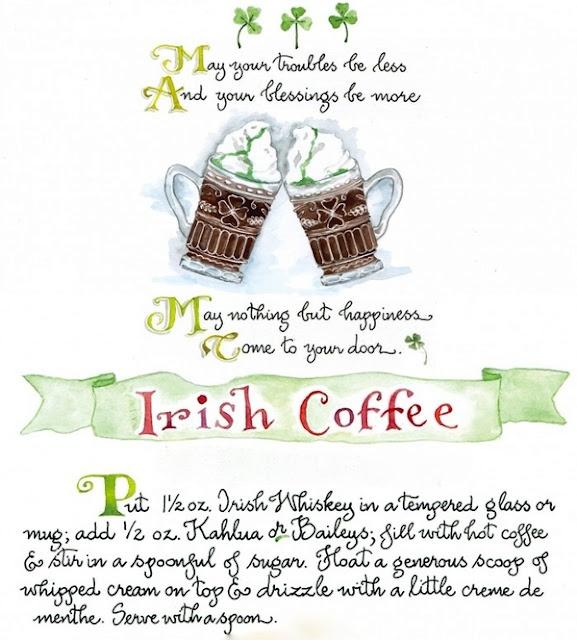st paddy's day irish coffee riecipe
