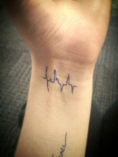 Heartbeat Tattoo On Wrist Heartbeat // wrist tattoo