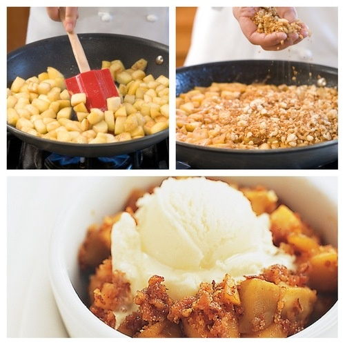 More like this: apples , skillets and brown .