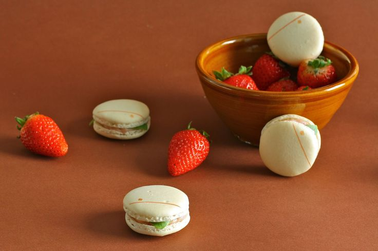 Powdered Strawberry And Vanilla Bean Macarons Recipes — Dishmaps