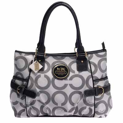Art Sateen Tote Bag Gray | Cheap Coach Bags Outlet Sale online Store
