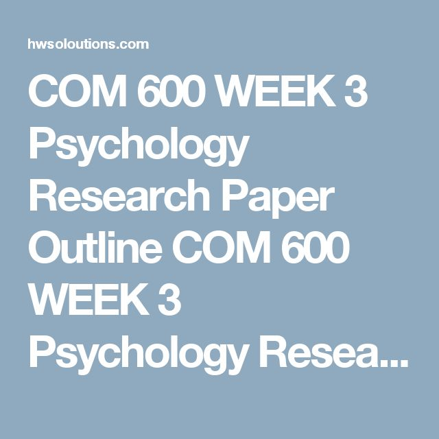 Topics for psychology research papers