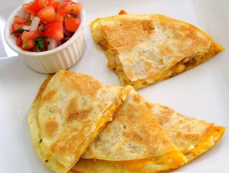 spicy shrimp quesadillas | Stuff I want to cook.. | Pinterest