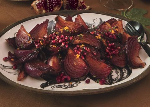 Roasted Red Onions with Pomegranate, Orange, and Parsley Gremolata ...