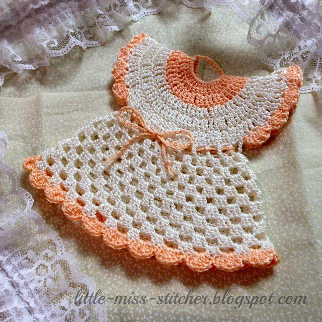 Free Crochet Pattern Dress Potholder : Vintage Crocheted Dress Potholder crochet and knitting ...