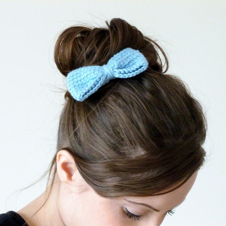 Crochet Hair Clips Pinterest : Crochet bow hair clip Miss Knit Nat Miss Knit Nat Pinterest