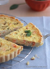 Smoked Salmon, Leek and Goat's Cheese Quiche
