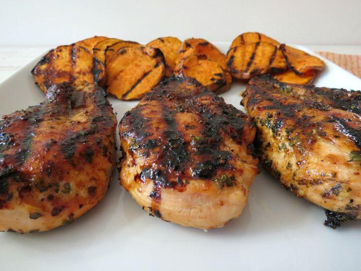 Chipotle-Honey Glazed Chicken - Moist tender, juicy grilled chicken ...