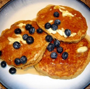 MultiGrain Pancakes with Blueberries! | Food | Pinterest
