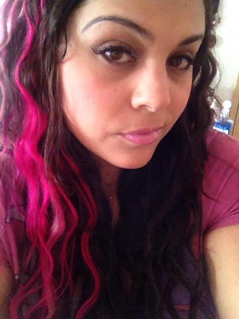 Wavy with pink highlights | I Am My Hair | Pinterest