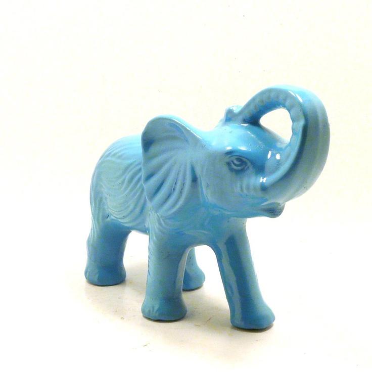 bohemian elephant figurine turquoise home decor painted figurine. Black Bedroom Furniture Sets. Home Design Ideas