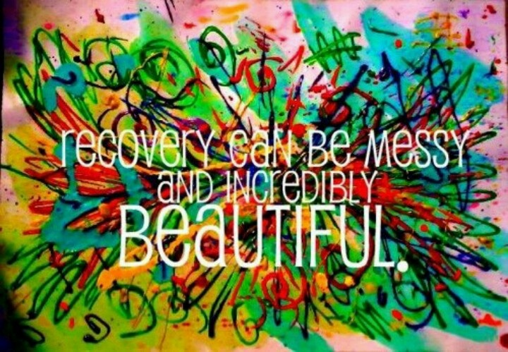 Image result for recovery is messy