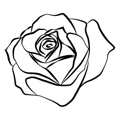 Rose Outline Ink Me Pinterest